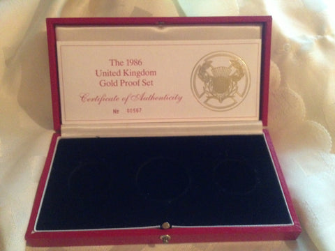 Picture of 1986 Three Coin Proof Set Case
