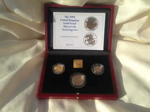Picture of Elizabeth II 1995 Gold Three Coin Proof Set