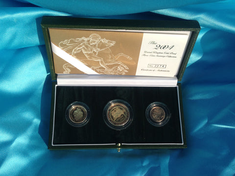 Picture of Elizabeth II 2004 Gold Proof Three Coin Set