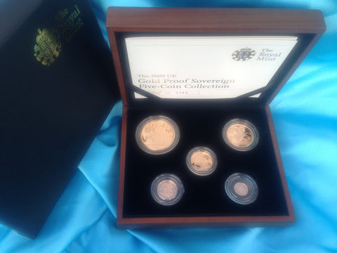 Picture of Elizabeth II 2009 five-coin gold proof set