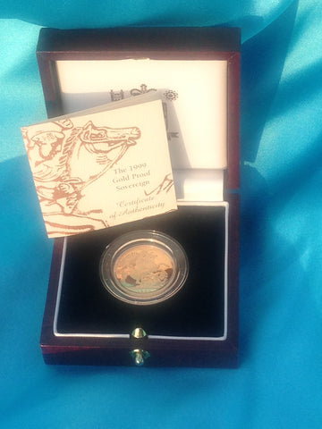 Picture of Elizabeth II 1999 Gold Proof Sovereign