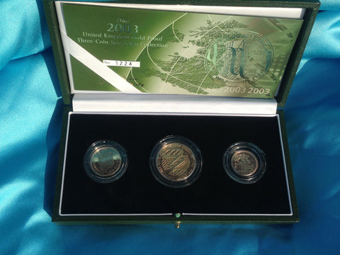Picture of Elizabeth II 2003 Gold Proof Three Coin Set