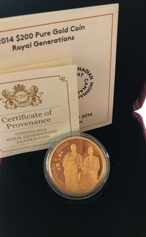 Picture of 2014 Canada Gold Proof $200 (1oz gold)