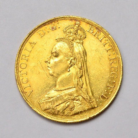 Picture of 1887 Queen Victoria Gold Five Pound Coin