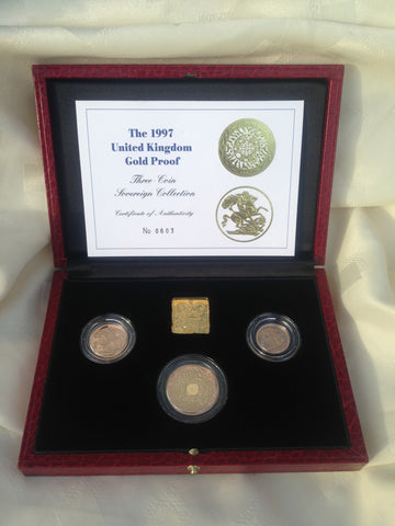 Picture of Elizabeth II 1997 Three coin Gold Proof Set