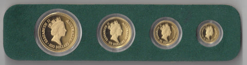 Picture of Australian 1987 Gold Proof Four Coin Nugget Set