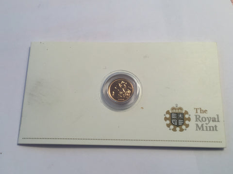 Picture of 2009 Queen Elizabeth II gold Quarter Sovereign
