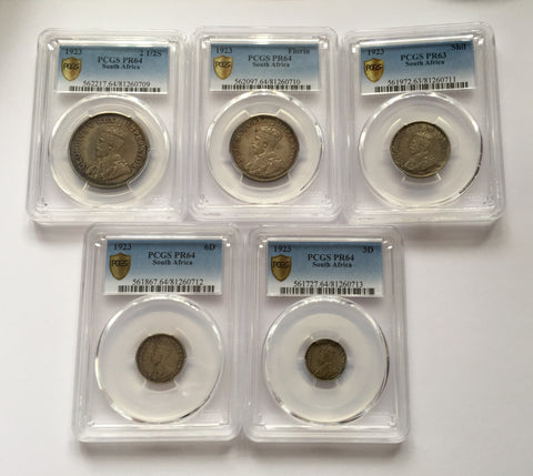 Picture of 1923 First EVER Silver South African Proof Set RARE