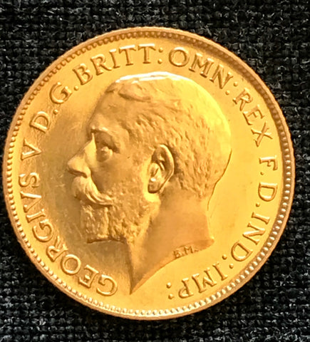 Picture of 1911 King George V Gold Proof Half Sovereign
