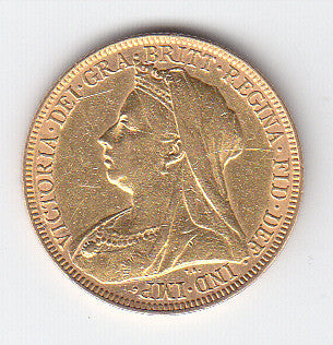 Picture of Victoria 1895 Widow Head Gold Sovereign