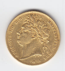 1823 Gold Sovereign of George IV (Rare R3)