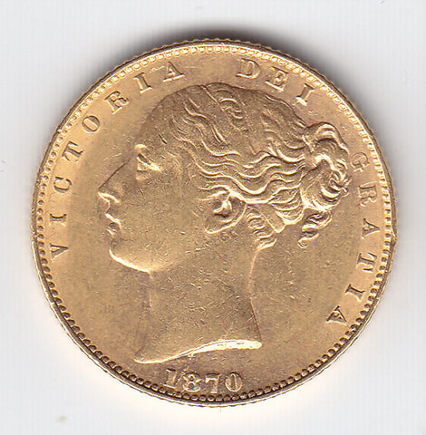 Picture of Victoria 1870 Gold Sovereign