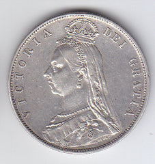 Victoria 1889 Jubilee Head Silver Half Crown