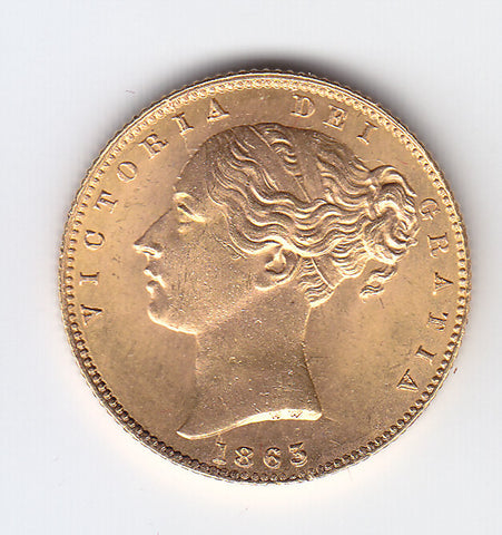 Picture of Victoria 1863 Gold Sovereign