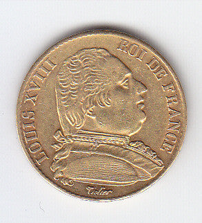 Picture of French Louis XVIII 1815 Gold Twenty Franc