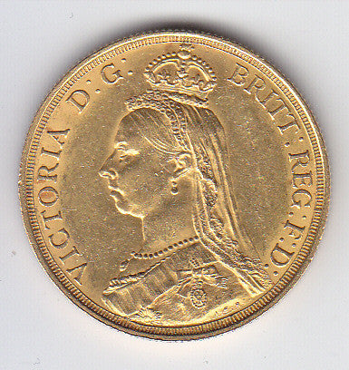 Picture of Victoria 1887 Gold Two-Pound Coin
