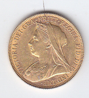 Picture of Victoria 1900 Widow Head Gold Sovereign
