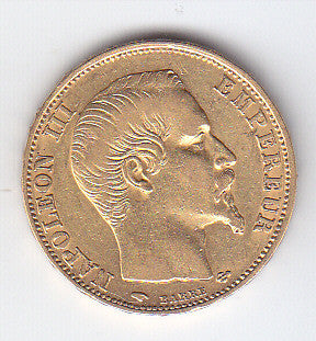 Picture of French Napoleon III 1857 Gold Twenty Franc