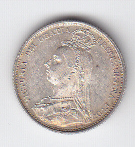 Picture of Victoria 1887 Silver Sixpence