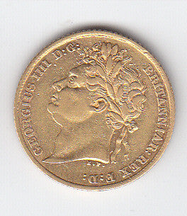 Picture of George IV 1825 Gold Half Sovereign