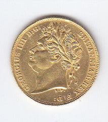 George IV 1821 Gold Half Sovereign R5