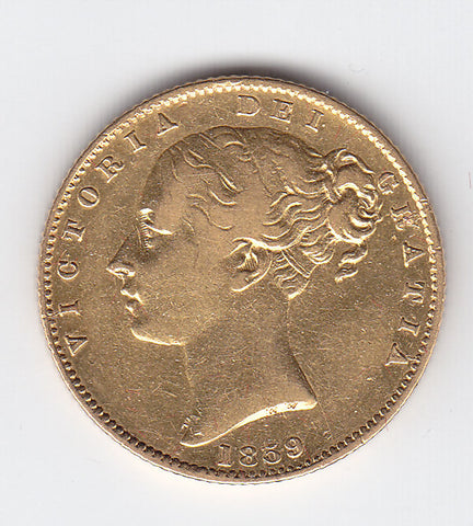 Picture of Victorian 1859 'Ansell' Sovereign