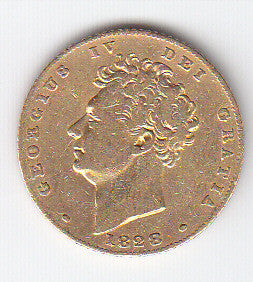Picture of George IV 1828 Gold Half Sovereign