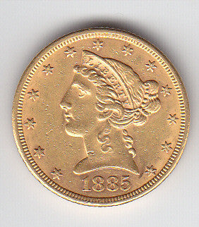 Picture of Half Eagle 1885 gold five dollar