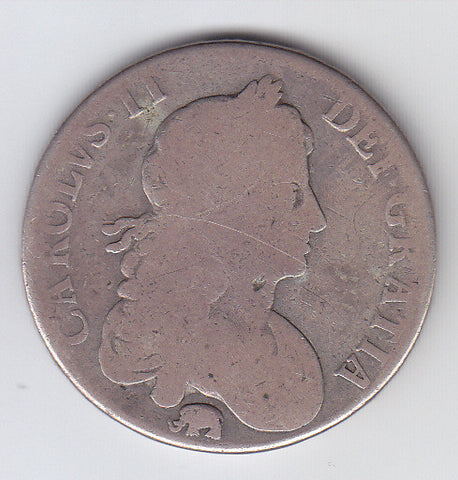 Picture of Charles II 1666 Silver Crown (elephant below bust)