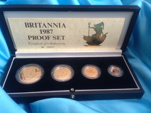 Picture of Elizabeth II 1987 Gold 4-coin Britannia Set