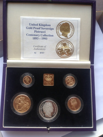 Picture of Elizabeth II 1993 Gold Proof Set with Silver medallion...