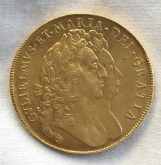 William and Mary 1692 Gold Five Guinea