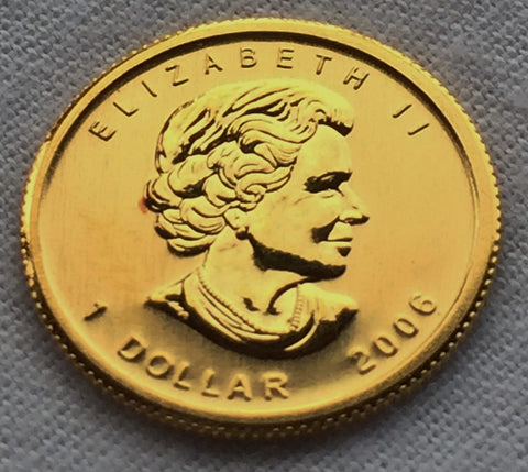 Picture of Canadian Maple Leaf 2006 1/20th gold coin