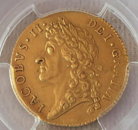 Picture of PCGS AU53 1686 JAMES II GOLD GUINEA