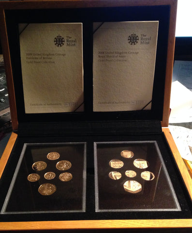 Picture of 2008 Emblems of Britain and Shield of Arms Gold Proof Set : just 150 sets