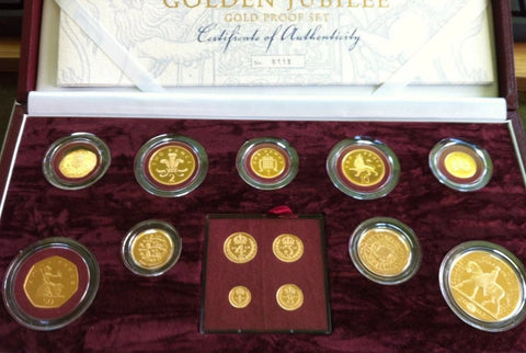 Picture of Golden Jubilee 2002 13 Coin Gold Proof Set