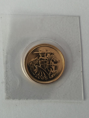 Picture of 2005 Gold Half Sovereign/ uncirculated