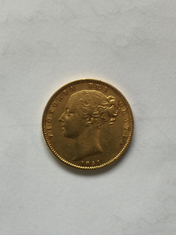 Picture of 1851 Gold Sovereign shield reverse