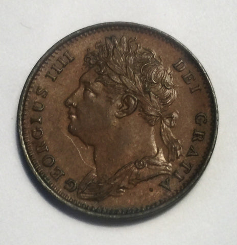 Picture of 1825 King George IV Laurel Head Farthing