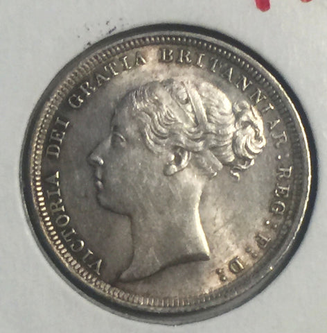 Picture of 1886 Queen Victoria Silver Sixpence