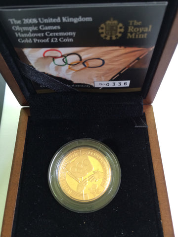 Picture of The Hand Over Ceremony Gold Proof Two Pound 2008