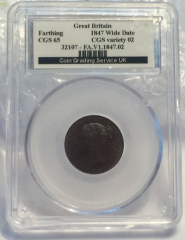 Picture of 1847 Victorian Farthing wide date