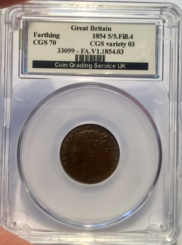 Picture of 1854 Victorian Farthing slabbed