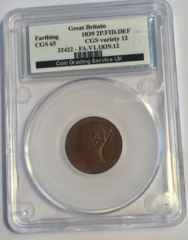 Picture of 1839 Victorian Farthing slabbed