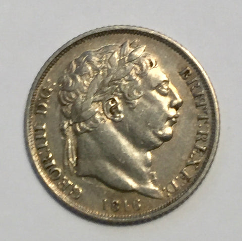 Picture of 1816 King George III Silver Six Pence