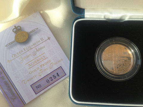 Picture of Elizabeth II 2002 Alderney Gold Twenty-Five Pound Coin