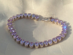 Light Amethyst Silver Bracelet