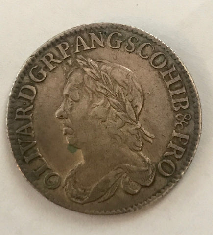 Picture of 1658 Oliver Cromwell Silver Shilling