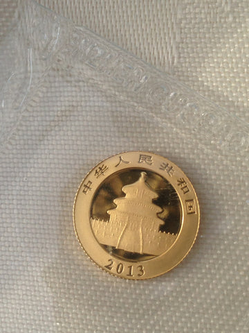 Picture of Chinese 2013 1/20th Gold Panda