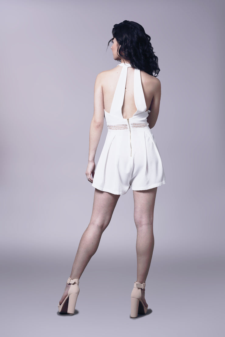Flirty racer back romper